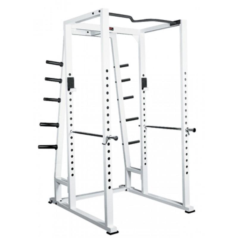 york strength training series white power rack w   weights
