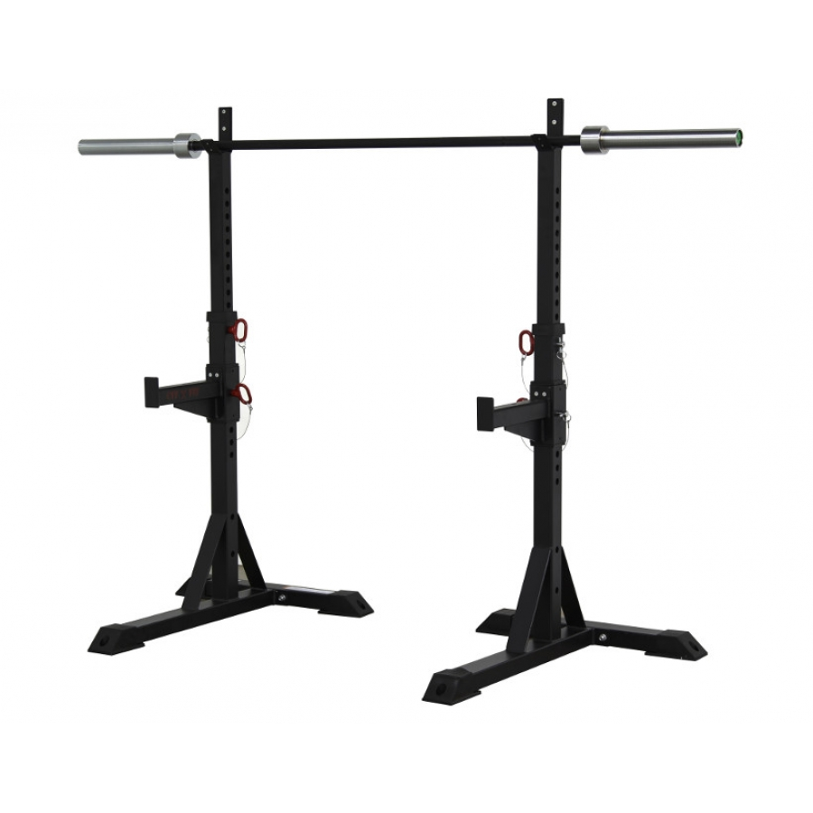 Heavy duty squat stands squat rack 1000lb capacity for A squat rack