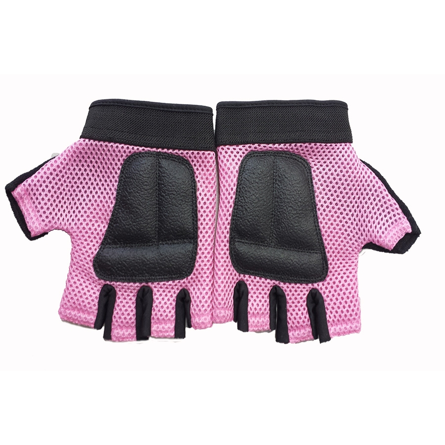 Mesh Weight Lifting Gloves: CFF Pink Nylon Mesh Weightlifting Gloves