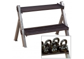 Body Solid Dual Dumbbell, Kettlebell Rack