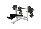 Legend Fitness Olympic Decline Bench w/ Plate Storage