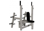 Legend Fitness Olympic Shoulder Bench w/ Plate Storage