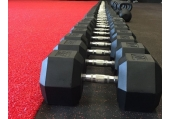 CFF Rubber Hex Dumbbell Sets - Lifetime Warranty