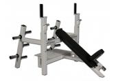 Legend Fitness Olympic Incline Bench w/ Plate Storage