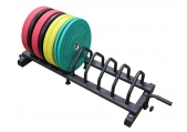 CFF Horizontal Olympic Bumper Plate Rack w/ wheels