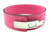 CFF 8MM Pink Pro Lever Weightlifting Belt