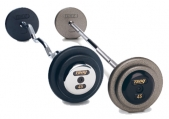 Troy Pro Style Fixed Barbell Set - Straight or E-Z Curl