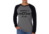 "CFF Long Sleeved ""Property of CFF"" Baseball Jersey"