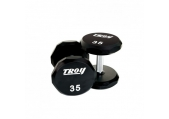 Troy Urethane 12-sided dumbbells 80 - 100 lb Set