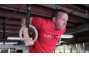 CFF Pit Bull Olympic gym rings in use